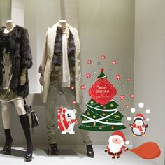 "Vetrofania attacca-stacca ""Merry Christmas tree"" http://www.adesivimurali.com/natale-vetrinistica/RN00049-merry-christmas-tree"