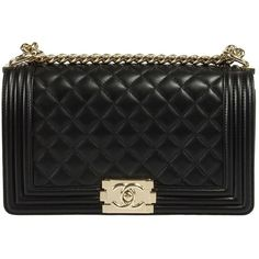 Chanel Boy Quilted Lambskin Flap Bag (68.924.710 IDR) ❤ liked on Polyvore featuring bags, handbags, bolsas, purses, black, home, crossbody purse, quilted purse, hologram purse and chain purse