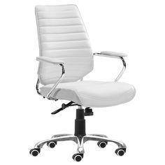 Enterprise White Low Back Office Chair @Zinc_Door