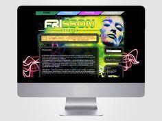 Criação e codificação do layout da página da Frisson.