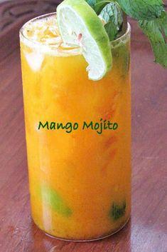 Mango Mojito Recipe so easy to make from scratch with my tutorial. Non-alcoholic Mango Mojito recipe so easy to do from scratch with my tutorial. Non alcoholic Mango Mojito, Mango Drinks, Refreshing Drinks, Summer Drinks, Cocktail Drinks, Mango Cocktail, Easy Alcoholic Drinks, Fun Drinks, Healthy Drinks
