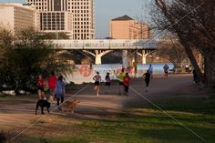 Runners and joggers take advantage of the the Lady Bird Lake Hike and Bike…