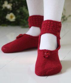 stickad ballerina sockor