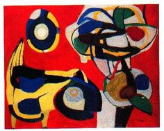 Karel Appel - Flowers and animals, 1951