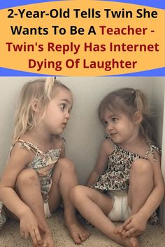 Two-year-old Mila and Emma of Phoenix, AZ are some of the funniest and youngest social media celebrities out there today. You'll often find them starring in viral videos talking about grown-up subjects in their adorable child voices which comes off as hilarious. 2 Year Olds, Viral Videos, Laughter, Hilarious, Career Choices, Teacher, The Voice, Twins, Social Media