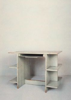 Gerrit Rietveld, Crate Desk, Circa 1934 (With images) Metal Rocking Chair, Swinging Chair, Vintage Furniture Design, Trendy Furniture, Crate Desk, Shelf Furniture, Workspace Design, Crates, Ideas