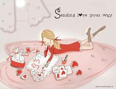 Sending Love your way. ~ Rose Hill Designs by Heather A Stillufsen