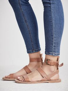 free people leather sandals