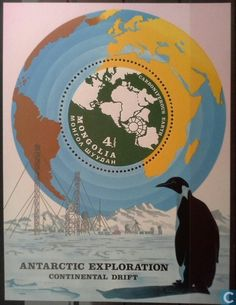 Postage Stamps - Mongolia - Antarctic Explorations & Continental drift