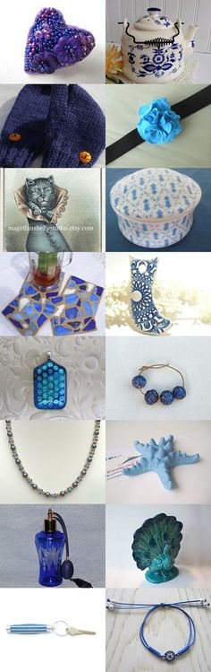 Shades of Blue by Angie Bisset on Etsy--Pinned with TreasuryPin.com