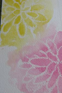 Letting two colors of watercolor bleed into each other
