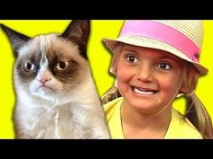 #Kids #Funny Reaction To Grumpy #Cat