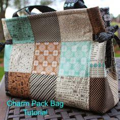 14 Cute Charm Pack Patterns to Make #CharmPacks #Sewing