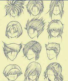 How to Draw Hair (Part Kanji de Manga Vol 3 cover image Boy Hair Drawing, Guy Drawing, Figure Drawing, Anime Drawings Sketches, Cartoon Drawings, Art Drawings, Pelo Anime, Manga Drawing Tutorials, Hair Sketch