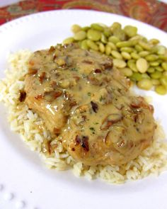 """Toasted Pecan Chicken - """"pan seared chicken simmered in a creamy orange dijon sauce and toasted pecans. Only takes 20 minutes from start to finish - no prep work."""""""
