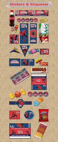 Kit Imprimible Spiderman El Hombre Araña Personali Candy Bar - $ 500,00