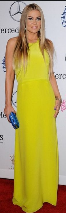 Who made  Carmen Electra's yellow gown that she wore in Beverly Hills?