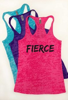 Fierce Tank Top. Burnout, Racerback Tank Top. Neon Tank Top. Workout, Running Tank. Beyonce Tank Top. Strong Girl. Fit, Exercise, Summer on Etsy, $21.00