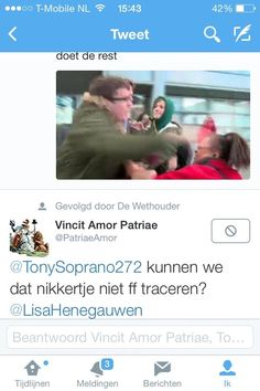 Permalink voor ingesloten afbeelding Woman who was beaten by nazi threatened again by fascists...