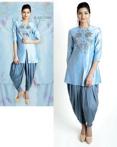 K.Anshika. Short Kurta With Dhoti Pants