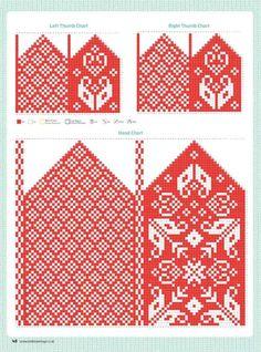 Knitted Mittens Pattern, Knitting Paterns, Knit Mittens, Knitting Charts, Knitted Gloves, Knitting Stitches, Hand Knitting, Norwegian Knitting, Knitting Magazine