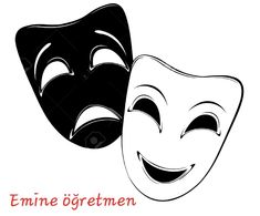 Illustration about Theatrical mask on a white background. Illustration of play, contrasts, masks - 29136728 Theater Mask Tattoo, Comedy Tragedy Masks, Clown Tattoo, Mask Drawing, Poster Online, Masks Art, Clipart, Sleeve Tattoos, Art Reference