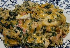SPICY CHICKEN & SPINACH CASSEROLE - Linda's Low Carb Menus & Recipes