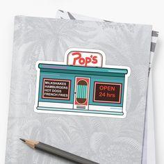 Riverdale Pops Cafe Shoppe illustration sticker•