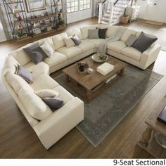 Off White Sectional sofa . Off White Sectional sofa . Lionel White Cotton Fabric Down Filled U Shaped Sectional by Modular Sectional Sofa, Sectional Sofa With Recliner, Fabric Sectional, Leather Sectional Sofas, Living Room Sectional, Living Room Furniture, U Shaped Couch Living Room, U Shaped Sectional Sofa, Black Sectional