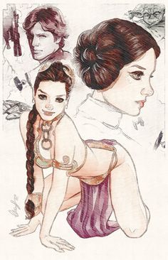 Leia slave - Star Wars Princesses - Ideas of Star Wars Princesses - Leia slave Star Wars Mädchen, Star Wars Girls, Film Science Fiction, Han And Leia, Star Wars Characters, Marvel, Pin Up, Character Illustration, Comic Art
