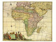 Africa Antique Map Postcard. Appreciated by #PhotoJdB