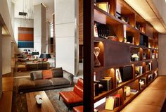 Stunning attention to detail and mixture of textures.  Grand Hyatt lobby and lounge by CCS Architecture San Francisco
