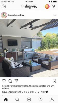 """Find out even more relevant information on """"outdoor kitchen designs layout patio"""". Have a look at our web site. Outdoor Kitchen Patio, Outdoor Kitchen Design, Outdoor Kitchens, Outdoor Glider, Design Jardin, Outdoor Living Rooms, Backyard Patio Designs, Backyard Seating, Backyard Bbq"""