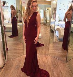 Backless Lace-up Sheath Stretch Satin Prom Dresses
