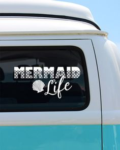 Shark Mermaid Couple Love Shark Mermaid Siren Sea Lovers - Couple custom vinyl decals for car