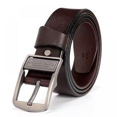 eb5401cc35e DWTS  ceinture en cuir hommes mâle véritable bracelet en cuir de ...