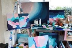 Original abstract artwork made in Mew Zealand Home Studio, Abstract Art, The Originals, Artist, Artwork, Home Decor, House Studio, Work Of Art, Interior Design