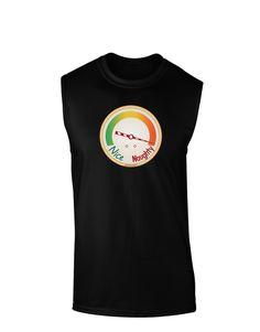 TooLoud Naughty or Nice Meter Naughty Dark Muscle Shirt