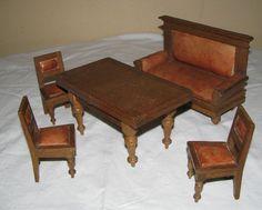 drei gr nderzeit salon st hle m bel f r puppenstube um 1880 samtbezug edelholz gr nderzeit. Black Bedroom Furniture Sets. Home Design Ideas