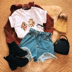 Style Outfits, Edgy Outfits, Retro Outfits, Cute Casual Outfits, Vintage Outfits, Aesthetic Fashion, Aesthetic Clothes, Winter Fashion Outfits, Fall Outfits