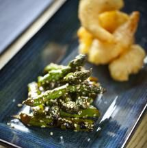 The versatility of fresh, seasonal British Asparagus is shown perfectly here with this oriental-themed recipe from Chef Marcus Bean,