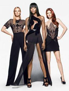Naomi Campbell, Anne V & Lydia Hearst!