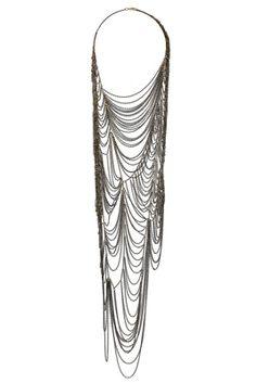 Topshop Premium Cobweb Necklace