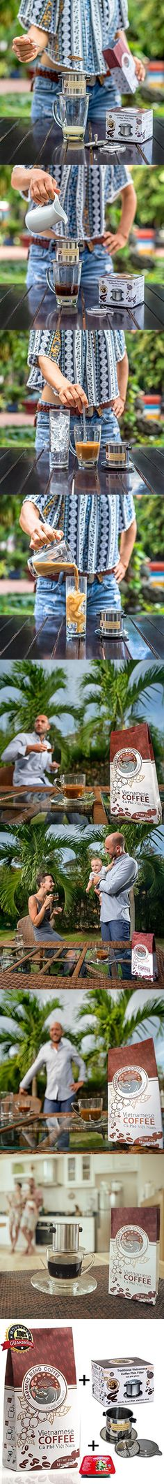 Gourmet Coffee Kit by Farmers Blend Vietnamese Coffee, our all in one Gift Set for a Unique Premium Coffee Experience