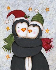 Little Claire's Designs: Little Claire Likes - 'Penguin Hugs' Shaker Card