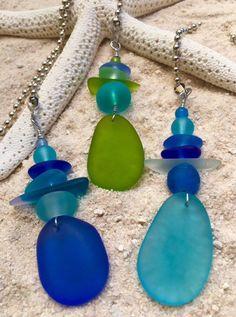 Fan-Dangle Sea Glass Fan Pull - RebornGlass.com