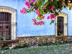 #comala #colima #mexico #bluewalls #bugambilia I Love Mexico, Pantone, History, Country, World, Places, Color, Cute, Fotografia