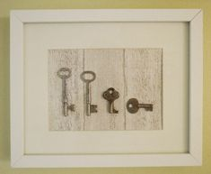 """Almost free"" wall decor project - The Keys To My Heart 