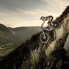 Gravity? Ain't nobody got time for that. : @gee_atherton : @rutgerpauw #mtb #downhillmtb #cycling