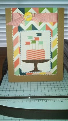 This is a card I made using the Carta Bella It's A Celebration collection! I love this collection!